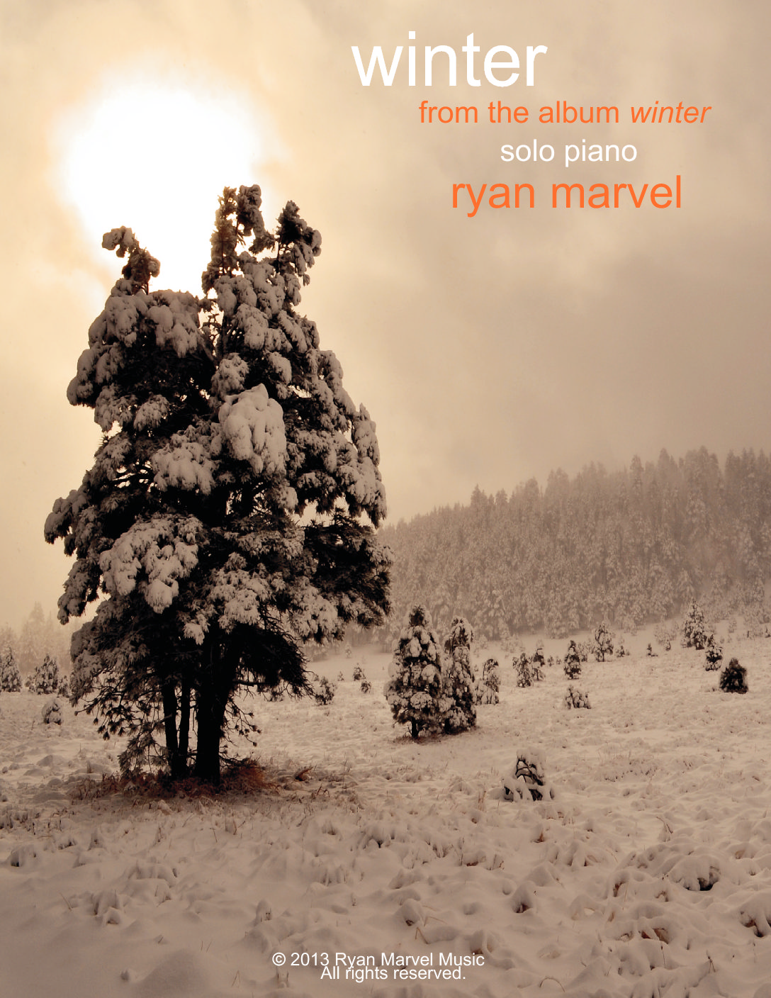 """Winter"" – Sheet Music (Signed Edition with Cover Art)"