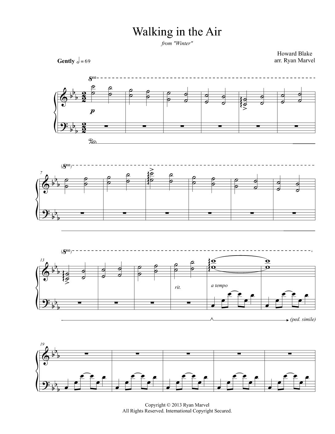 """""""Walking in the Air"""" – Sheet Music (Download)"""