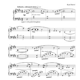 """Nostalgic"" – Sheet Music (Download)"