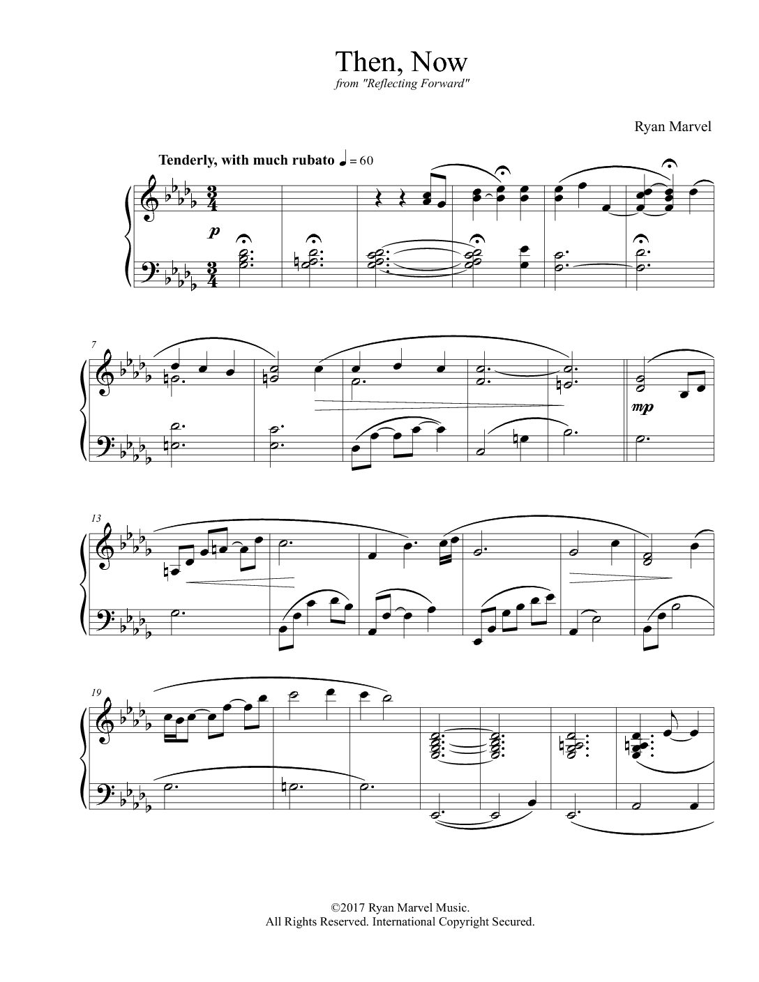 """Then, Now"" – Sheet Music (Download)"