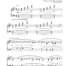 """O Come, O Come/Lo, How A Rose"" – Sheet Music (Download)"